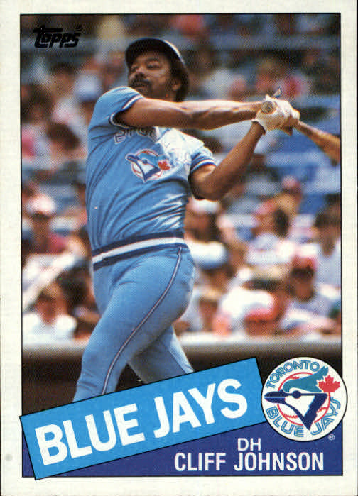 1985 Topps #568 Cliff Johnson