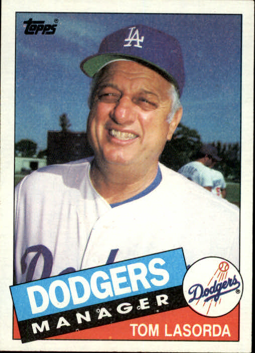 1985 Topps #601 Tom Lasorda MG