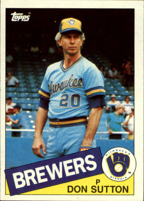1985 Topps #729 Don Sutton
