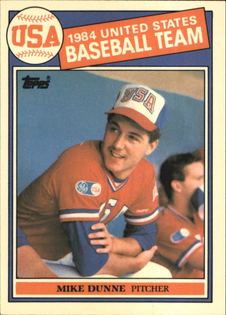 1985 Topps Tiffany #395 Mike Dunne OLY