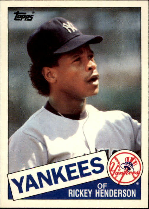 1985 Topps Traded #49T Rickey Henderson