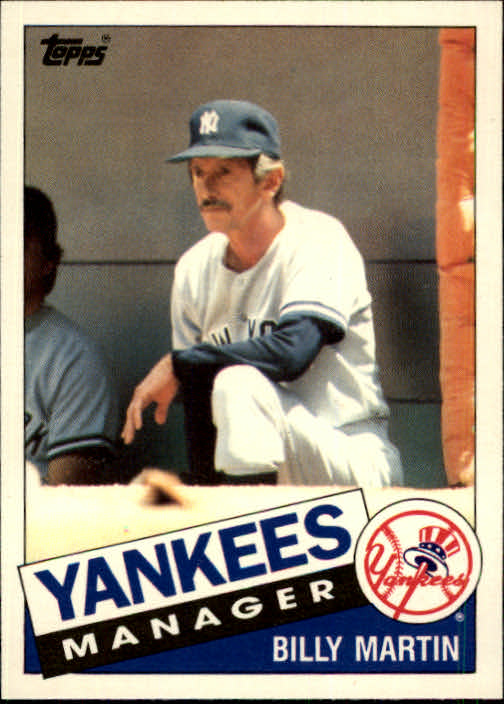 1985 Topps Traded #78T Billy Martin MG