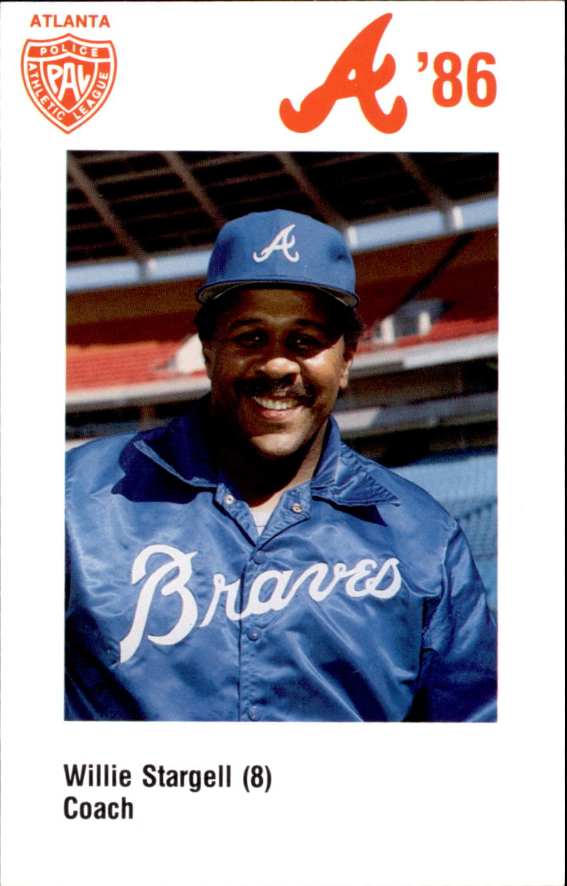 1986 Braves Police #8 Willie Stargell CO