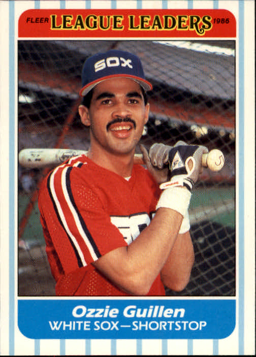 1986 Fleer League Leaders #17 Ozzie Guillen