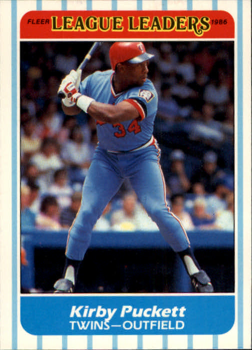 1986 Fleer League Leaders #32 Kirby Puckett