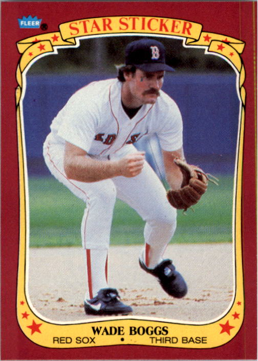 1986 Fleer Star Stickers #8 Wade Boggs