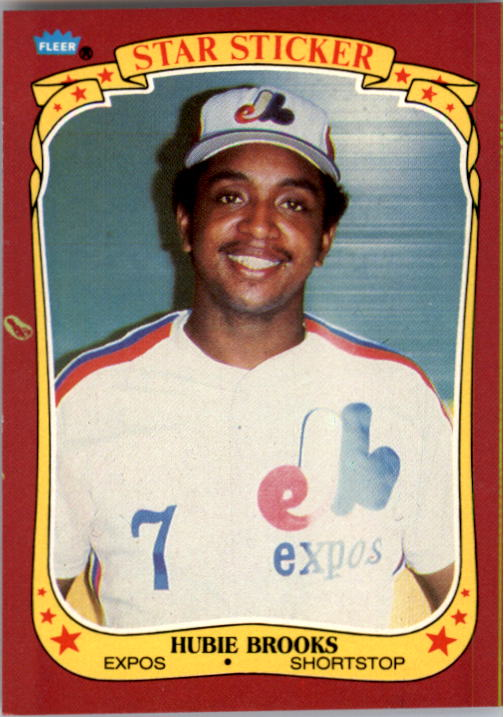 1986 Fleer Star Stickers #12 Hubie Brooks