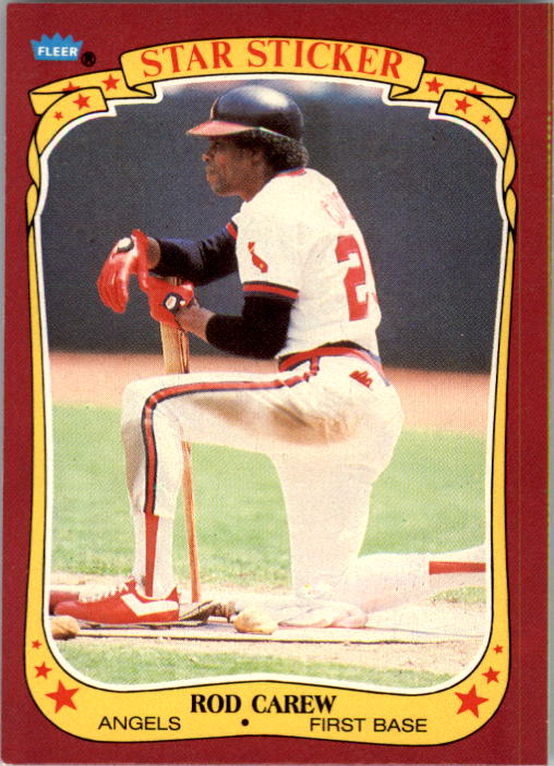 1986 Fleer Star Stickers #20 Rod Carew