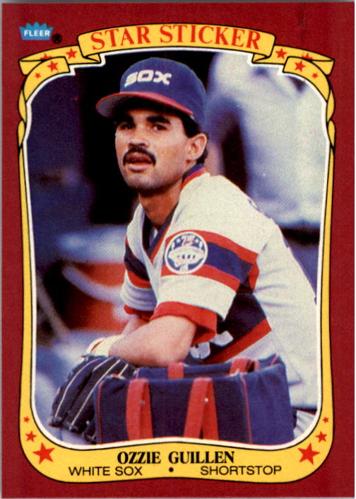 1986 Fleer Star Stickers #49 Ozzie Guillen