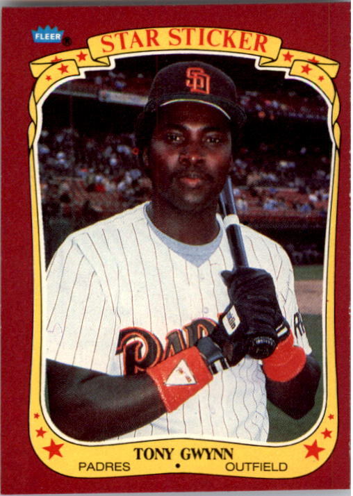 1986 Fleer Star Stickers #50 Tony Gwynn