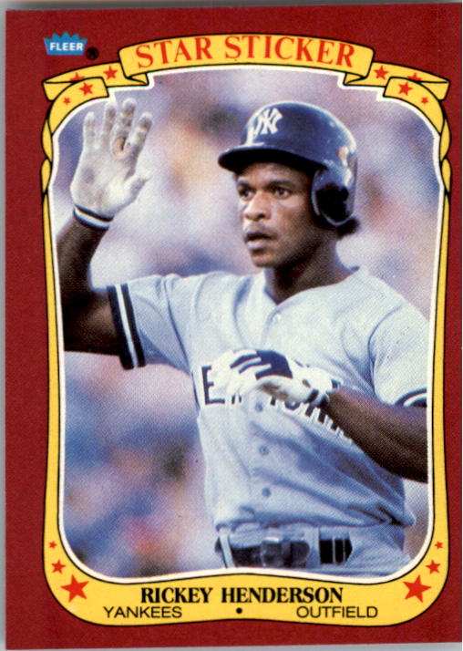 1986 Fleer Star Stickers #53 Rickey Henderson