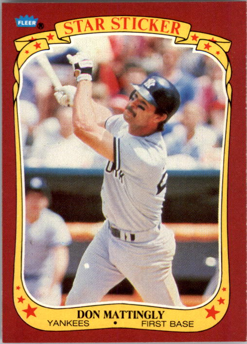 1986 Fleer Star Stickers #72 Don Mattingly