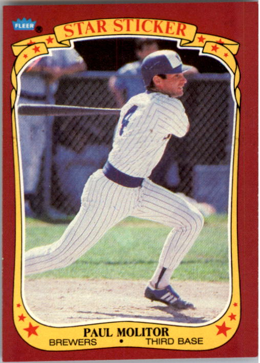 1986 Fleer Star Stickers #76 Paul Molitor