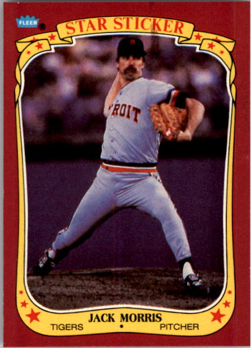 1986 Fleer Star Stickers #79 Jack Morris