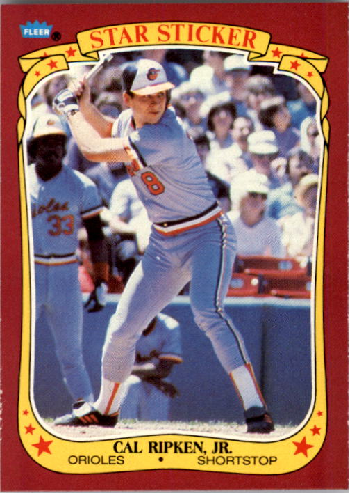 1986 Fleer Star Stickers #99 Cal Ripken