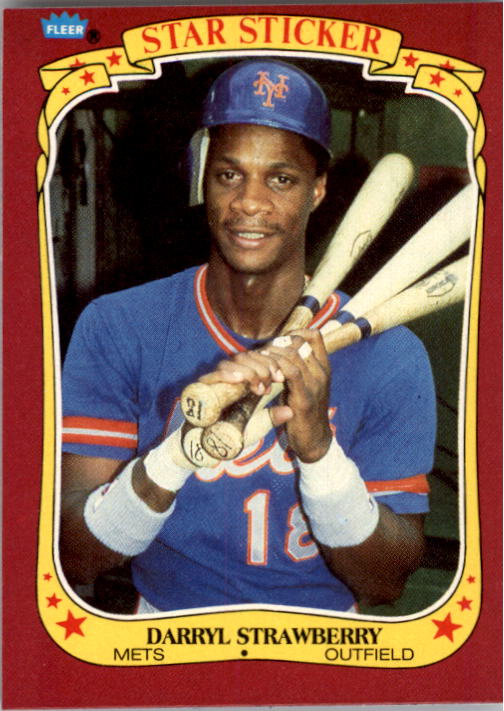 1986 Fleer Star Stickers #116 Darryl Strawberry