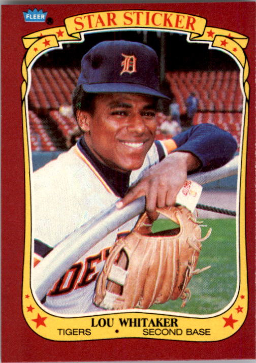 1986 Fleer Star Stickers #126 Lou Whitaker