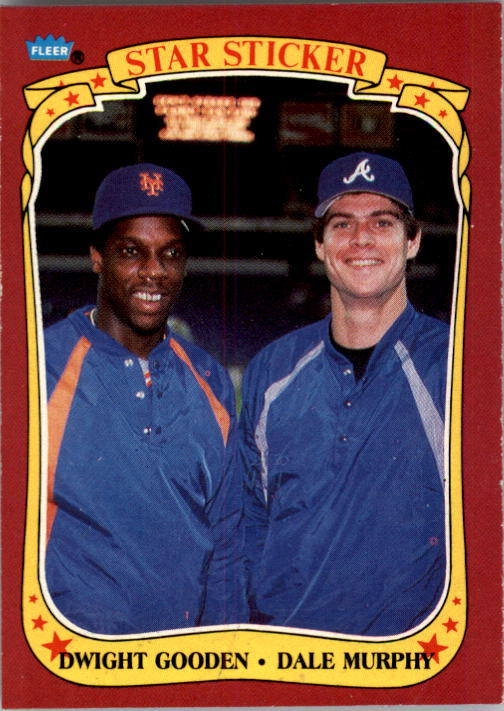 1986 Fleer Star Stickers #132 Checklist Card/Dwight Gooden/Dale Murphy