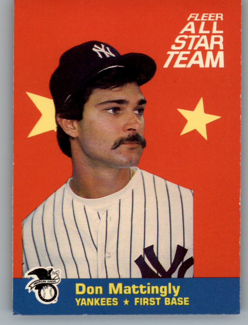 1986 Fleer All-Stars #1 Don Mattingly