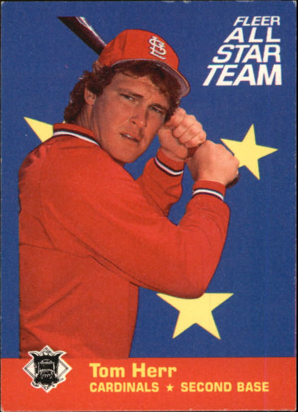 1986 Fleer All-Stars #2 Tom Herr