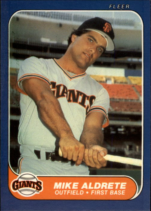 1986 Fleer Update #1 Mike Aldrete XRC