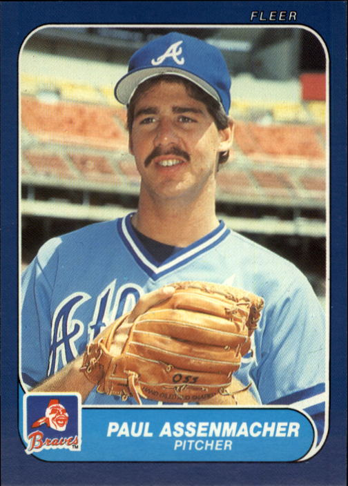 1986 Fleer Update #5 Paul Assenmacher XRC