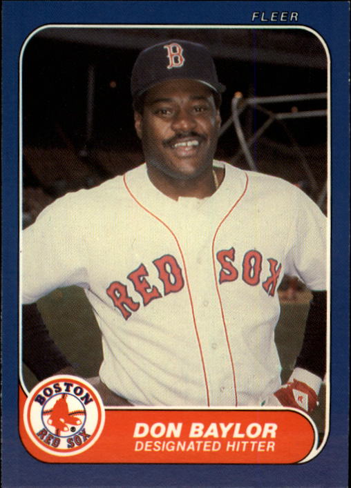1986 Fleer Update #10 Don Baylor