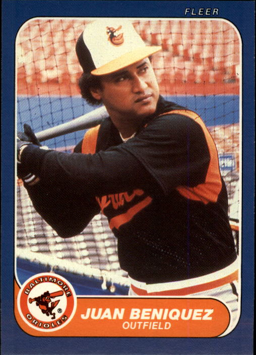 1986 Fleer Update #13 Juan Beniquez