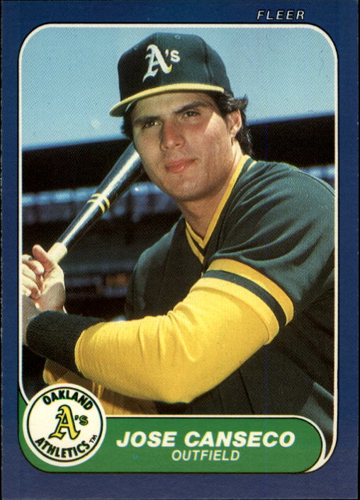 1986 Fleer Update #20 Jose Canseco