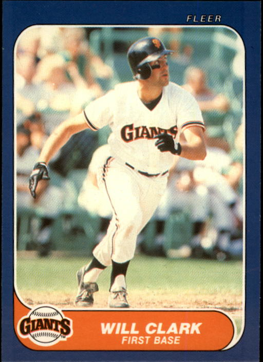 1986 Fleer Update #25 Will Clark XRC