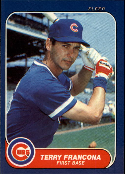 1986 Fleer Update #43 Terry Francona