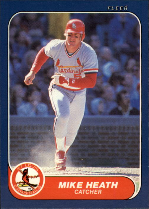 1986 Fleer Update #50 Mike Heath