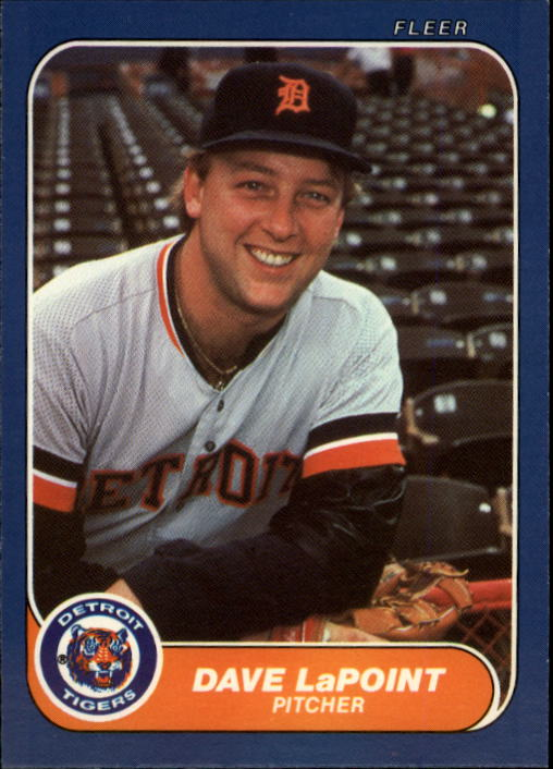 1986 Fleer Update #64 Dave LaPoint