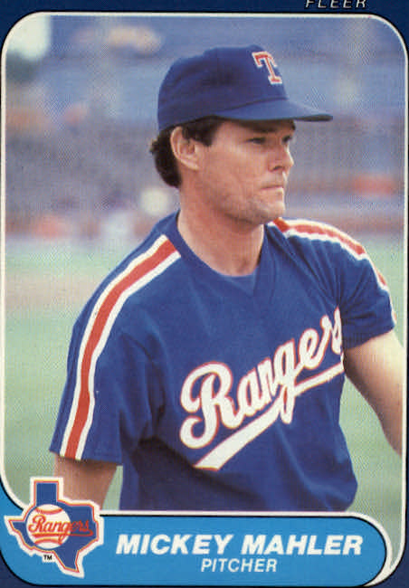 1986 Fleer Update #70 Mickey Mahler