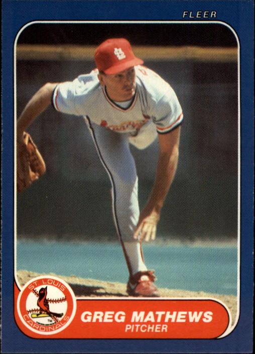 1986 Fleer Update #73 Greg Mathews