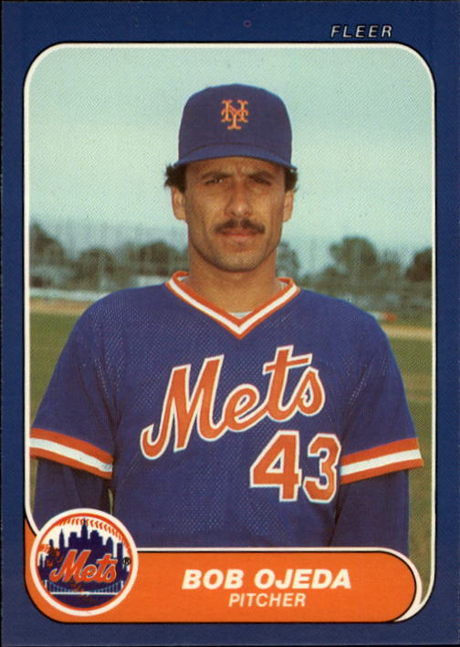 1986 Fleer Update #84 Bob Ojeda