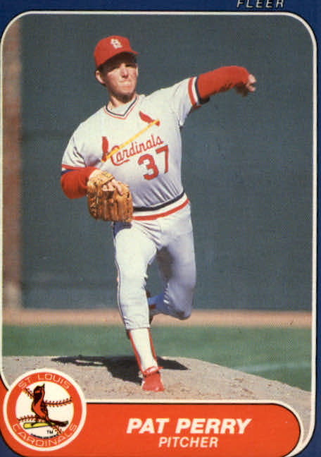 1986 Fleer Update #89 Pat Perry