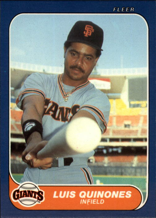 1986 Fleer Update #92 Luis Quinones
