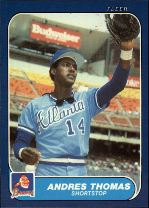 1986 Fleer Update #112 Andres Thomas