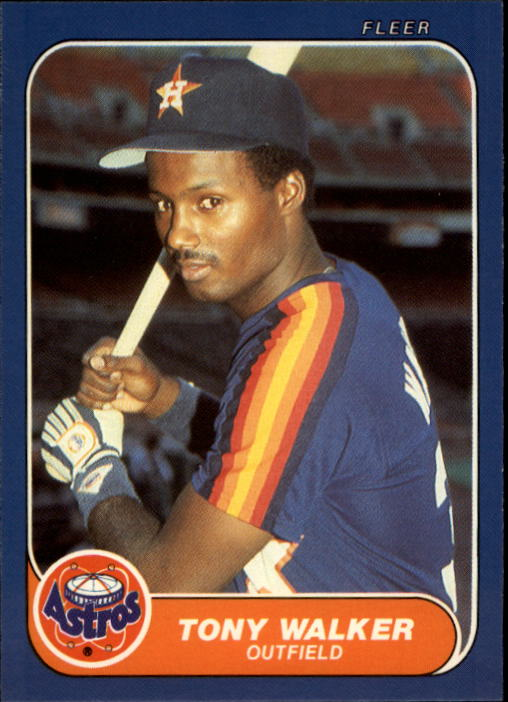 1986 Fleer Update #123 Tony Walker