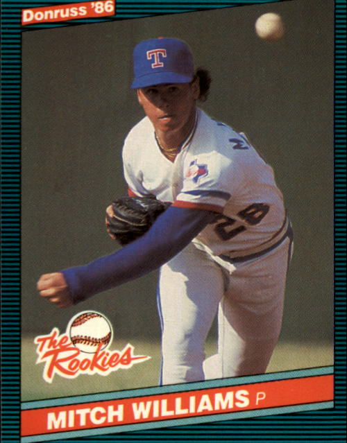 1986 Donruss Rookies #19 Mitch Williams XRC