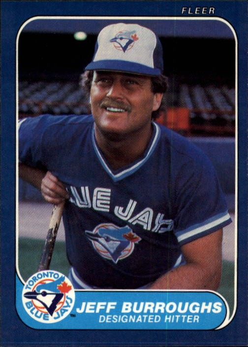 1986 Fleer #54 Jeff Burroughs