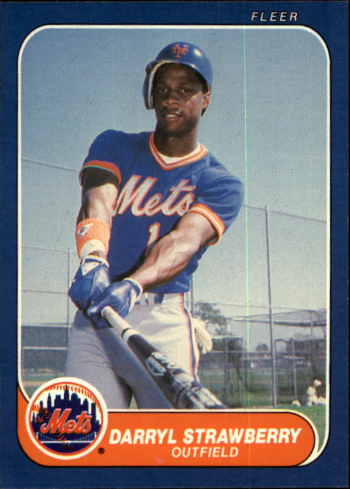 1986 Fleer #96 Darryl Strawberry