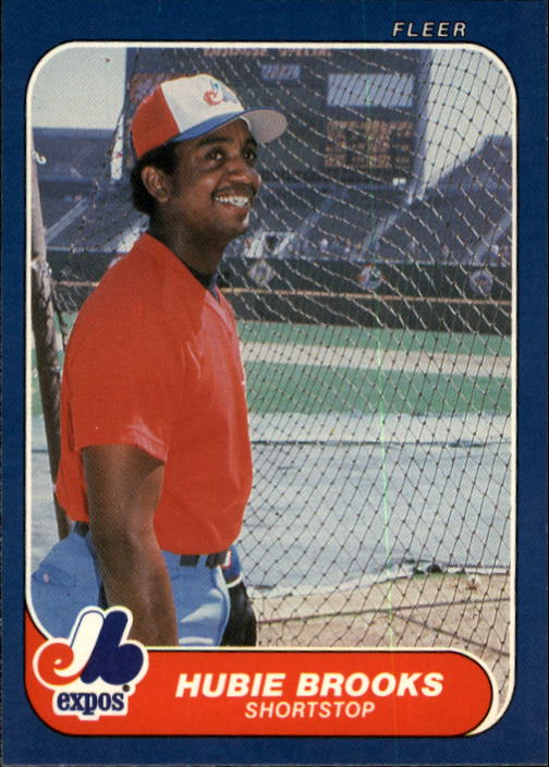 1986 Fleer #244 Hubie Brooks