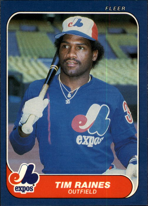 1986 Fleer #256 Tim Raines