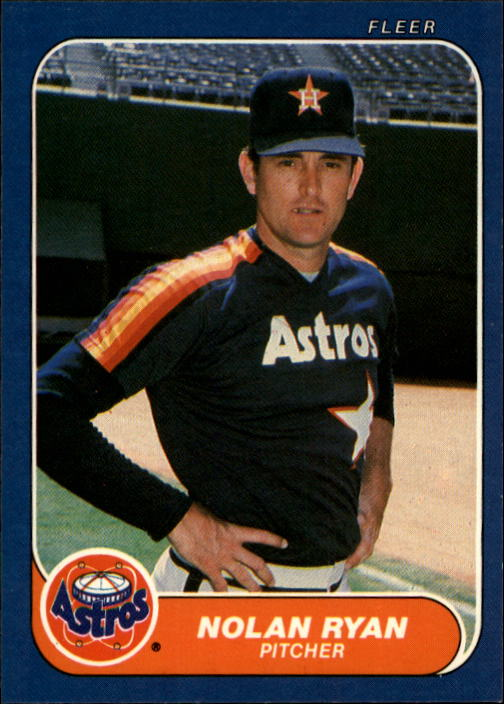 1986 Fleer #310 Nolan Ryan