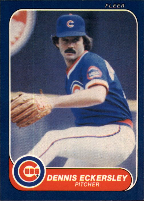 1986 Fleer #368 Dennis Eckersley