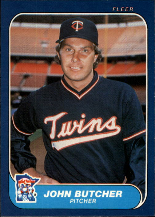 1986 Fleer #389 John Butcher