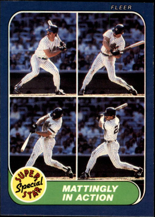 1986 Fleer #627 Don Mattingly IA