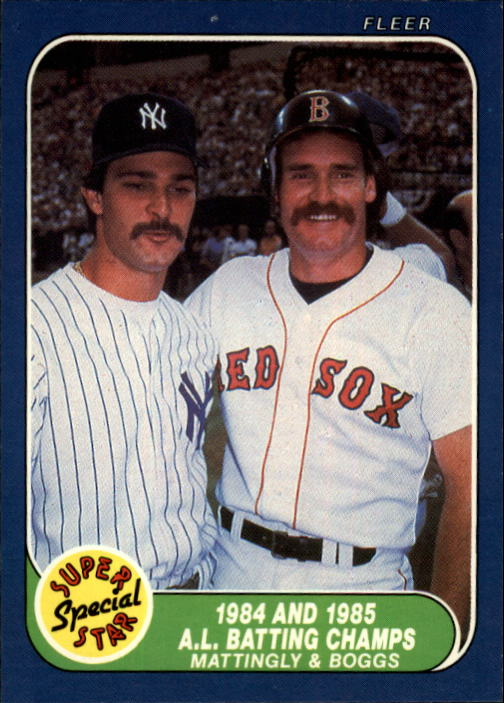 1986 Fleer #639 Wade Boggs/D.Mattingly